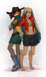 Cera and Jaloon by Battlelords