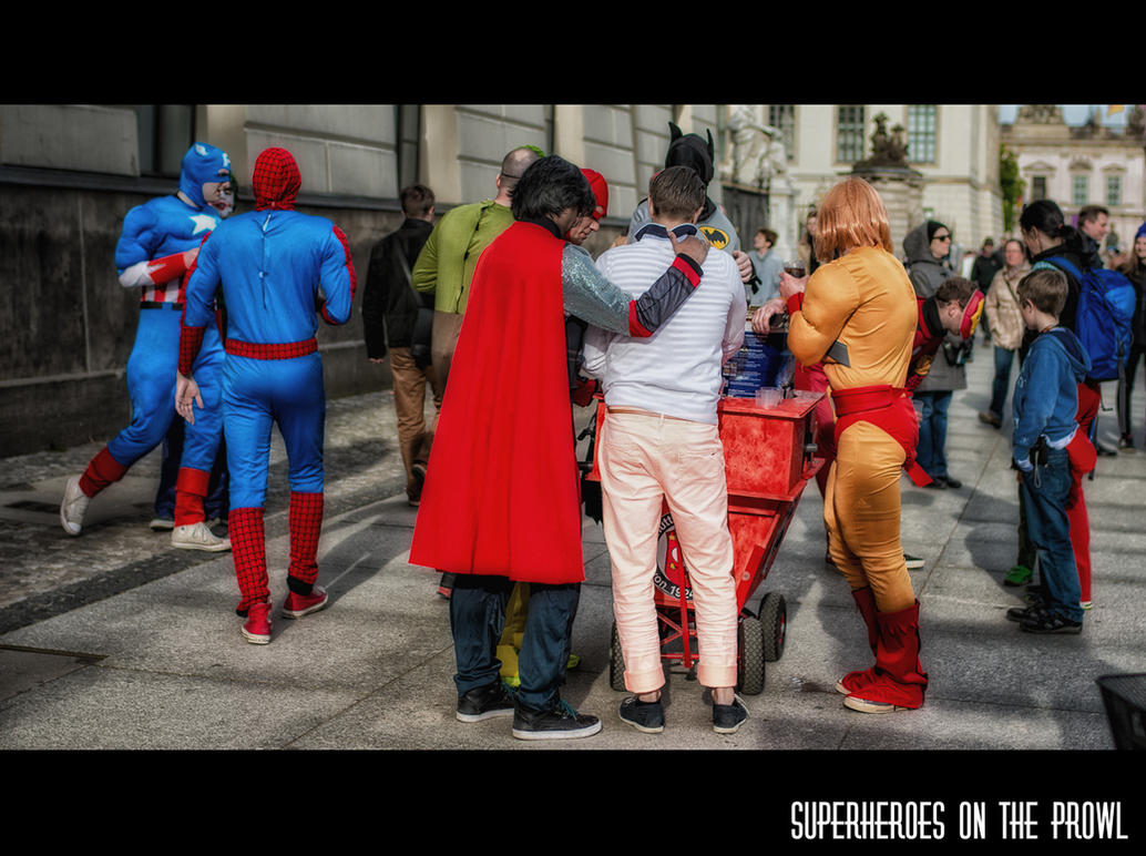 Superheroes on the prowl by calimer00