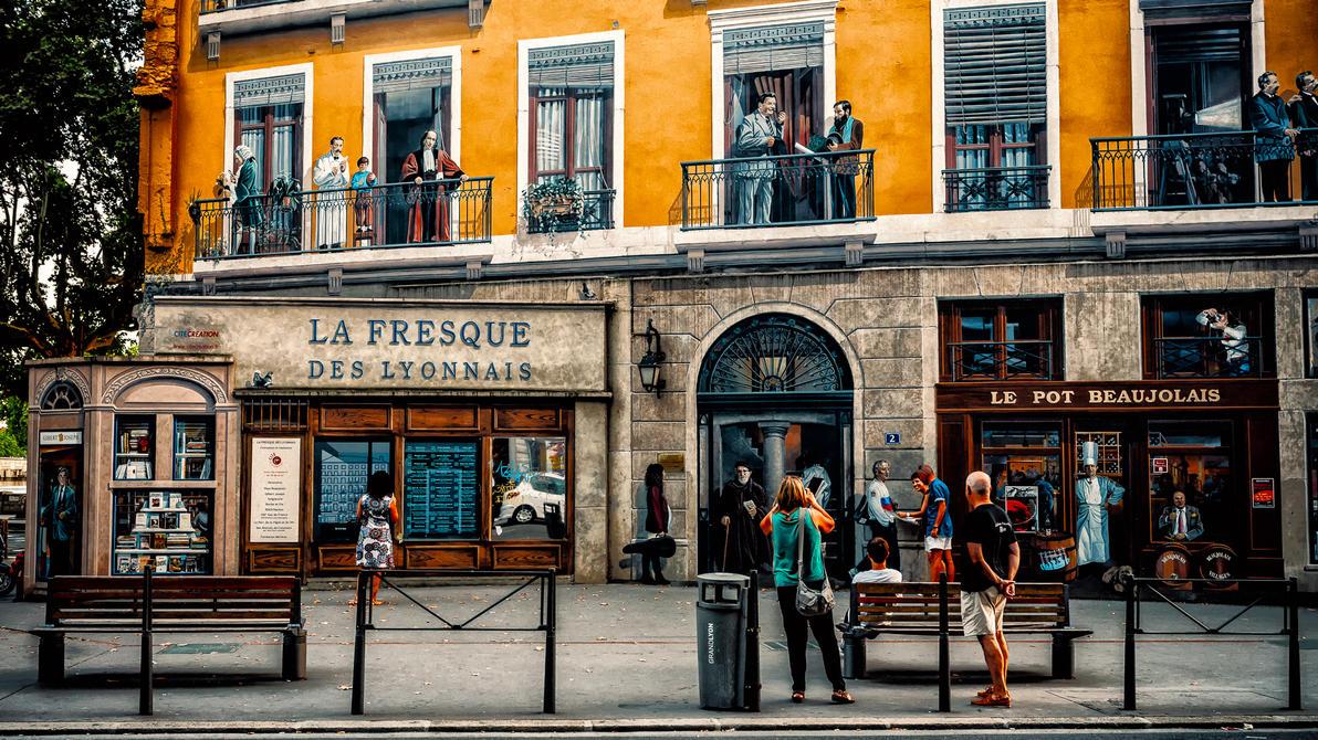 La fresque des Lyonnais 2 by calimer00