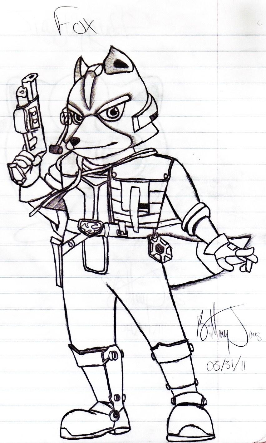 Super smash bros brawl fox by badasssheik92 on deviantart for Super smash bros brawl coloring pages