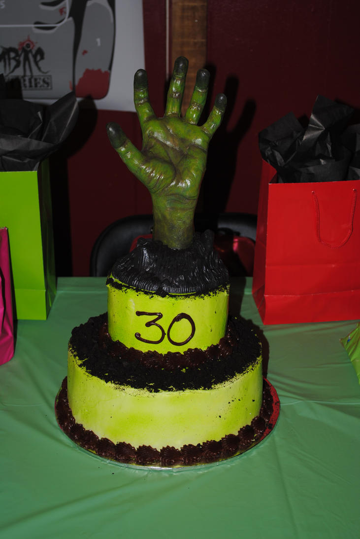 Zombie birthday cake by imaginati on DeviantArt