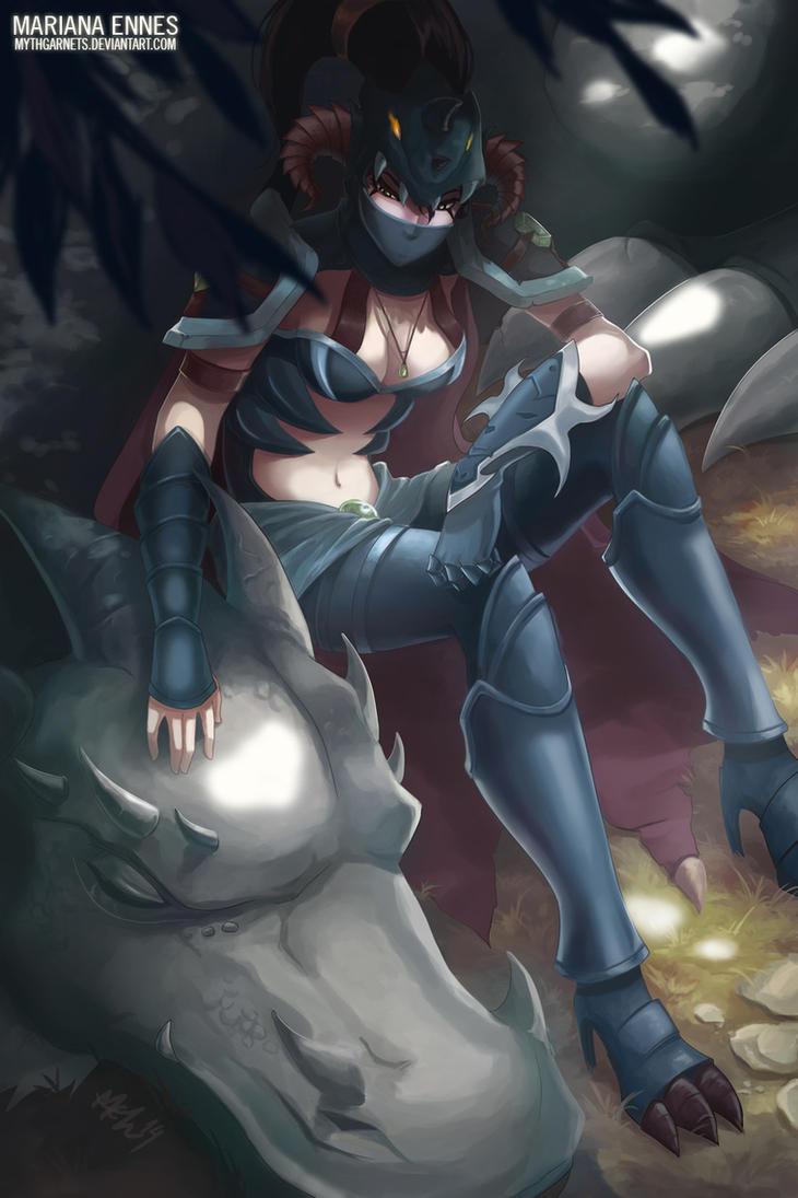 Fanart - Dragonslayer Vayne by mythgarnets