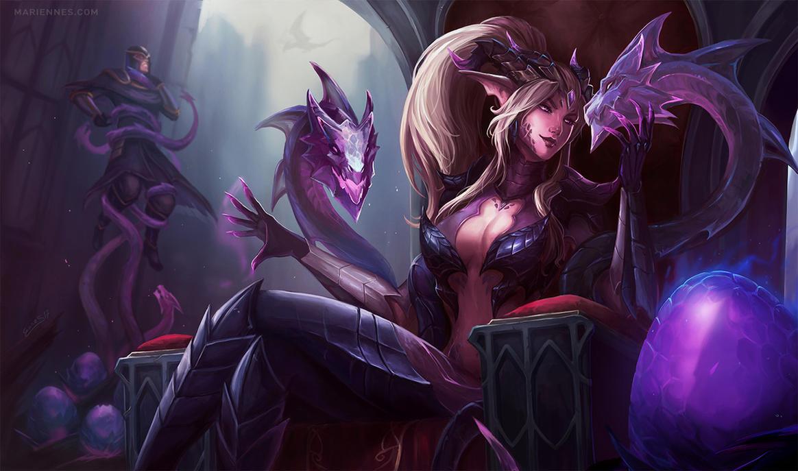 Dragon Sorceress Zyra by MarianaEnnes on DeviantArt Orianna Splash Art