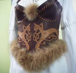 leather corset by MARIEKECREATION
