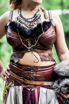 leather corset and wide belt