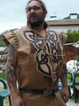 celtic leather tunic by MARIEKECREATION