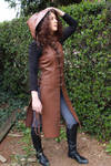 Brown leather tunic by MARIEKECREATION