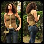 Soft leather tunic by MARIEKECREATION