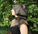 Short leather cape by MARIEKECREATION