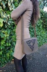 Shoulder bag with triquetra by MARIEKECREATION