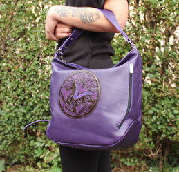 Stag leather bag by MARIEKECREATION