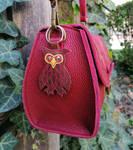 Owl bag charm by MARIEKECREATION