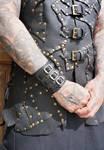 Wide leather bracelets by MARIEKECREATION