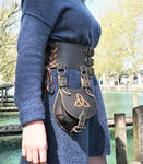 Waist belt with removable pouch by MARIEKECREATION
