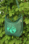 Green tote with deer