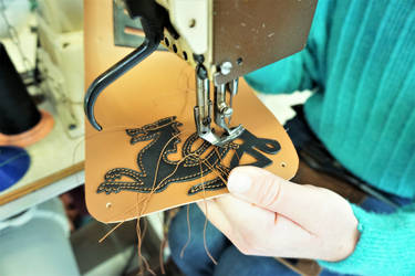 Sewing a dragon's pouch