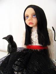 OOAK Dark Gothic Art Doll by Fairykist
