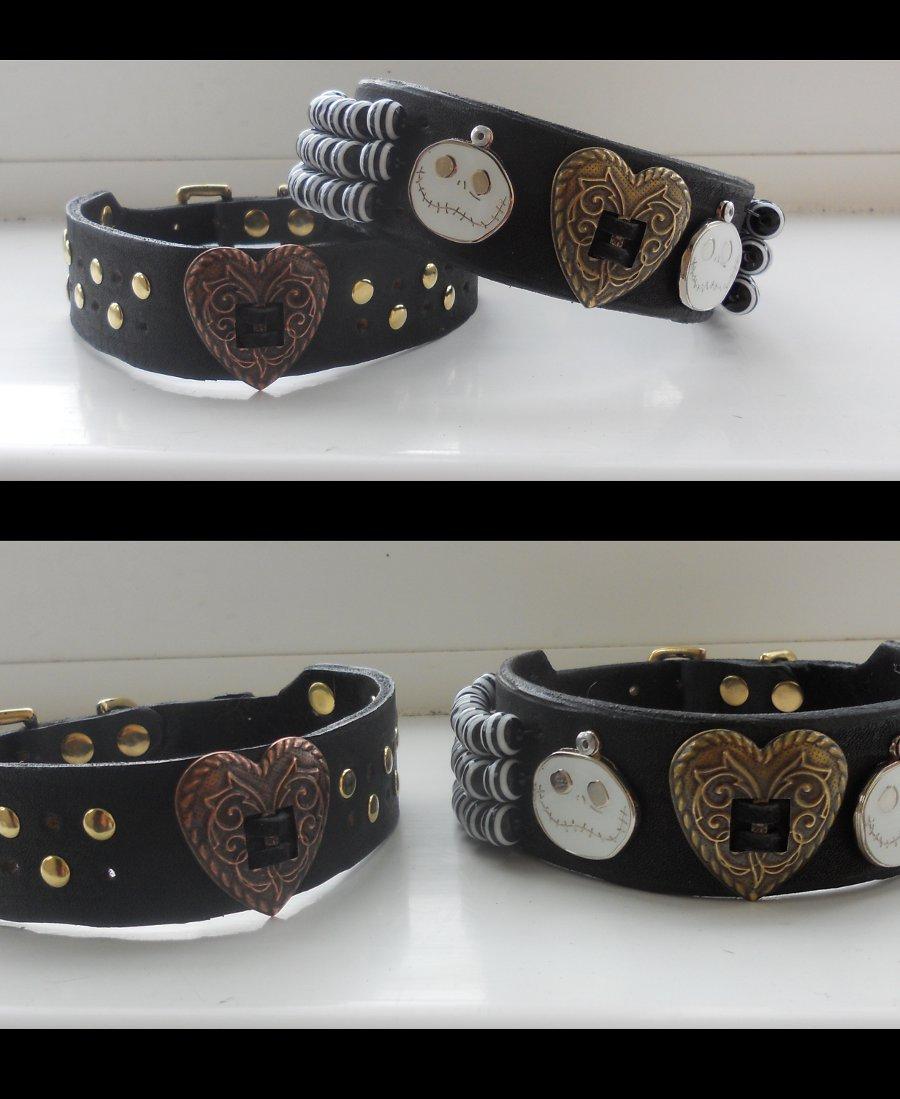 1st attempt at dog collars by Fairykist on DeviantArt