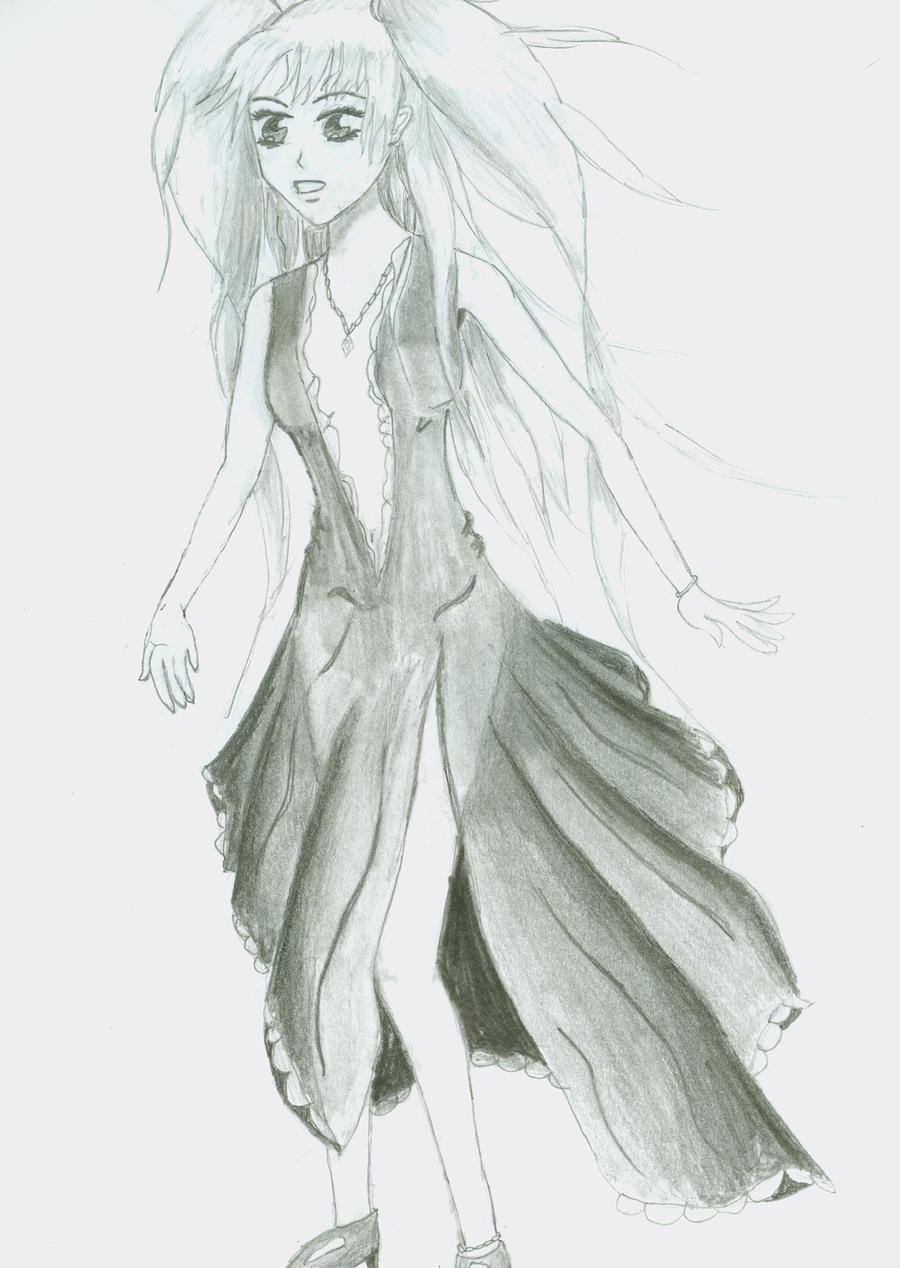 Anime girl sketch full body www imgkid com the image
