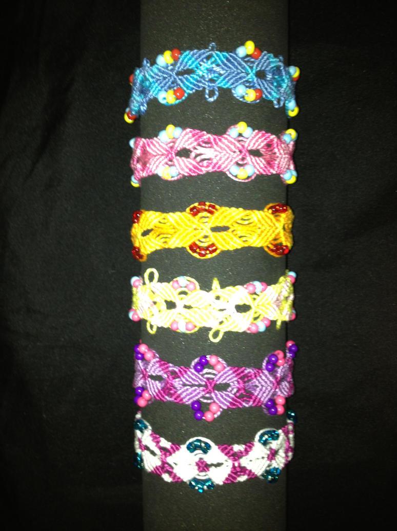 Mane Six Bracelets by RunningOftheLeaves
