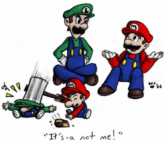 Mario, Luigi and cookie by MiyaYoshi