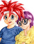 CT - Lil' Crono and Lucca
