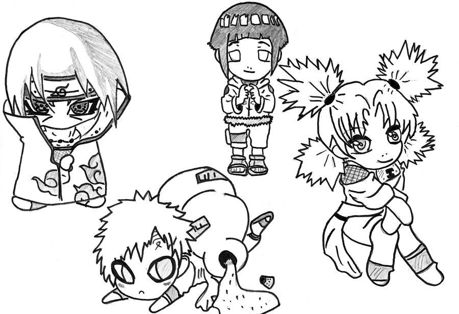 Chibi Naruto Character By Wa Luigi