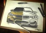 Progress of a new BMW M4.