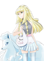 Grown Lillie + Snowy by aethertastic