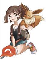 Pokemon Let's Go Eevee - Team Eevee by aethertastic