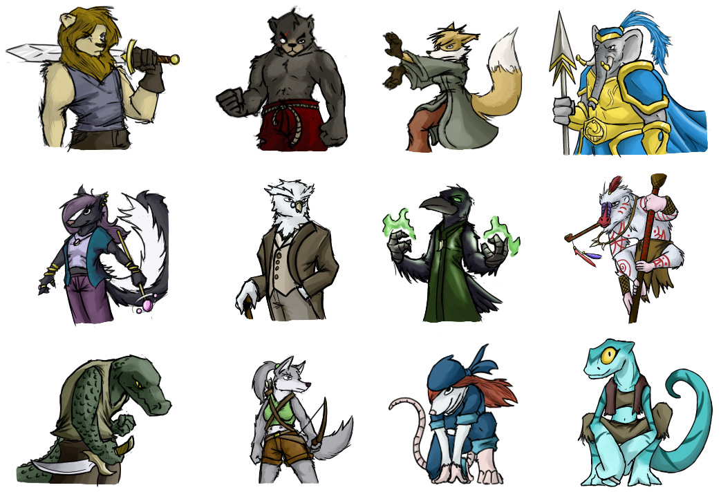 Card Game Characters in Color By Dsurion On DeviantArt
