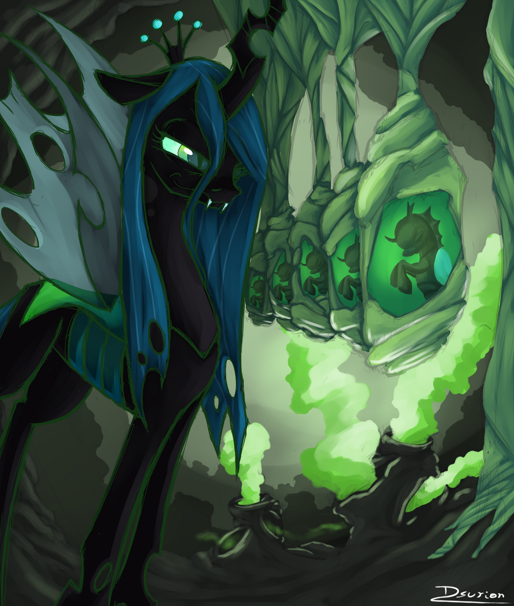 Queen Chrysalis by Dsurion