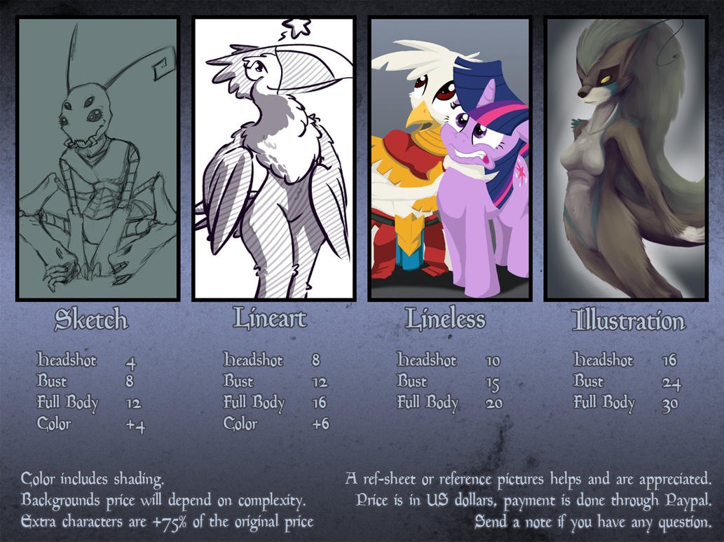 Commission Info by Dsurion