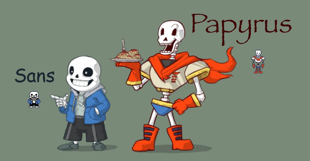 Undertale - Sans and Papyrus by Dsurion