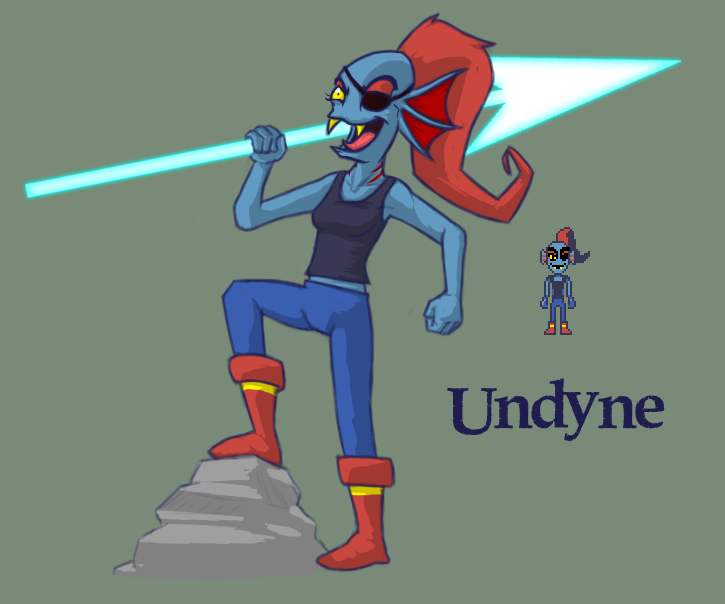 undertale alphys and undyne - photo #43