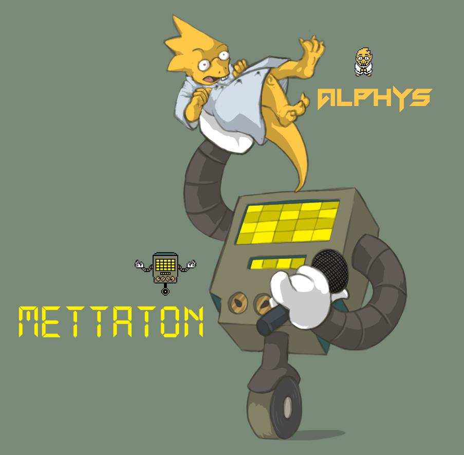 Undertale - Alphys Mettaton by Dsurion
