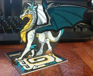 Silver Dragon Paper Miniature