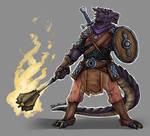 Black Dragonborn Paladin