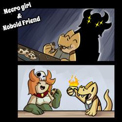 Necro Girl and Kobold Friend - 110