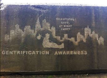 Reverse Graffiti - Gentrification Campaign