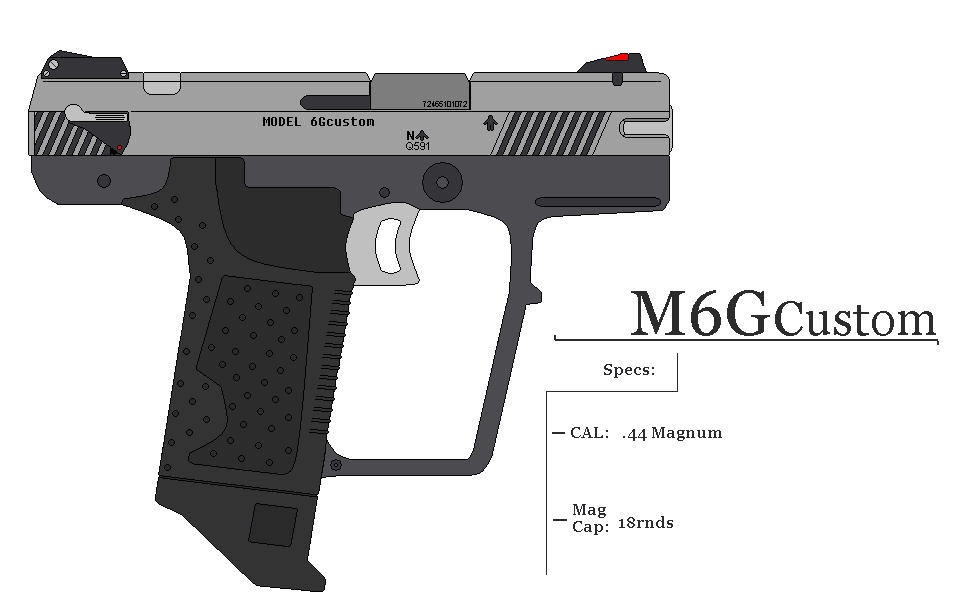Custom Halo Magnum M6G Custom by GriffinDogR34