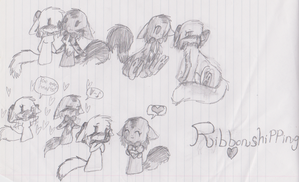 Ribbonshipping Doodles by TsukaimonBOOM