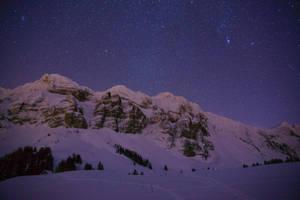 Night Sky above Switzerland by ErwinStreit