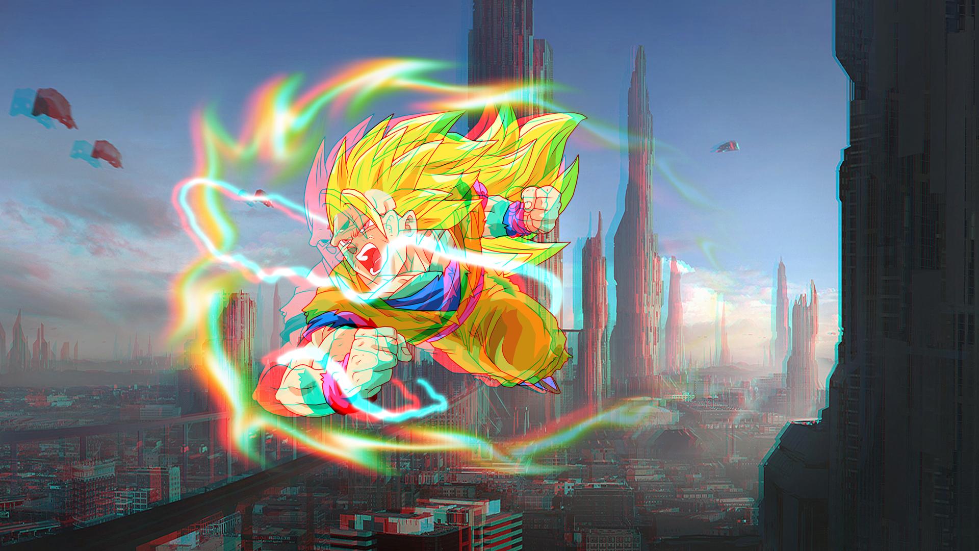 Goku Super Saiyan 3 3D Remake By Boeingfreak