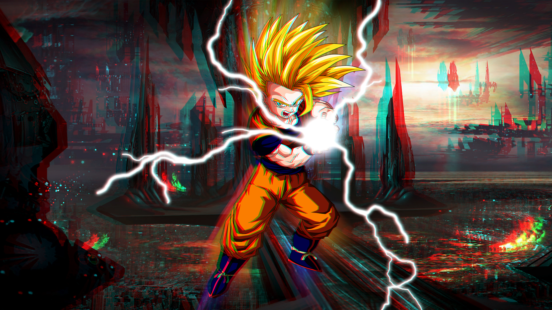 Super Saiyan 2 Gohan 3d 1080p By Boeingfreak On Deviantart