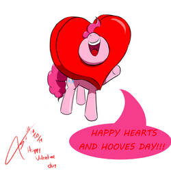 Happy Hearts and Hooves Day by Pinkie Pie by AsajioPie01
