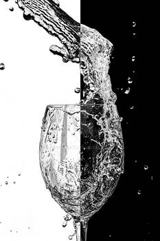 Cup black white