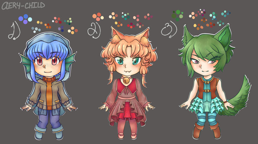 Adoptables 1 by Aery-Child