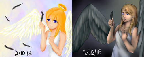 Angel Before and After by Aerypear