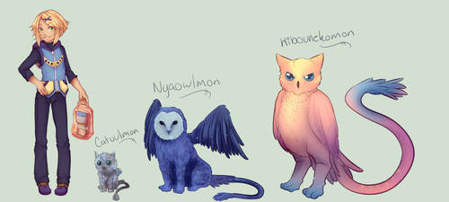 Aster's Digimon Forms by Aerypear